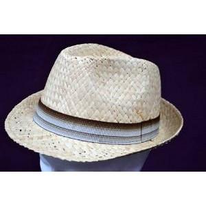 Καπέλο Ψάθινο με Καφέ - Μπεζ Ρίγα (Μπεζ) (Κωδ.592.512.001)