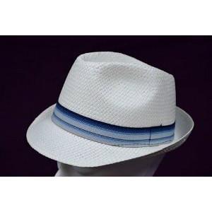 Καπέλο Ψάθινο με Μπλε - Σιελ Ρίγα (Άσπρο) (Κωδ.592.512.001)