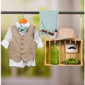 Ολοκληρωμένο πακέτο βάπτισης με αυτό το κοστούμι Bambolino Avgoustis (#8837-165-325#) Με βαλίτσα rain η παγκάκι θρανίο Ζητήστε προσφορά !!