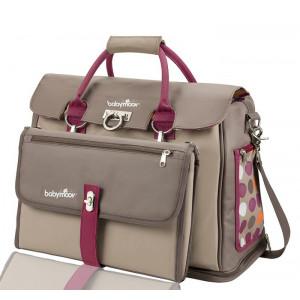 Τσάντα babymoov  hand nappy bag Taupe/Hibiscus (Κωδ.035.102.016)