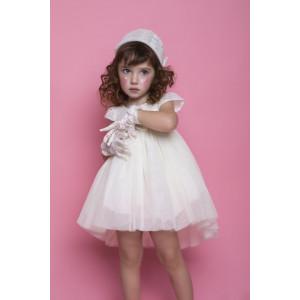 Ολοκληρωμένο πακέτο βάπτισηs με αυτό το φόρεμα Bambolino Popitsa (#8824-165-325#) Με βαλίτσα rain η παγκάκι θρανίο Ζητήστε προσφορά !!