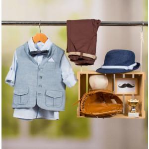 Ολοκληρωμένο πακέτο βάπτισης με αυτό το κοστούμι Bambolino Sotos (#8856-170-330#) Με βαλίτσα rain η παγκάκι θρανίο Ζητήστε προσφορά !!