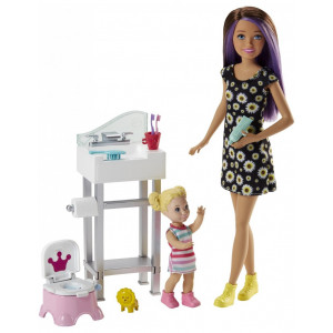 Barbie Στο Μπάνιο Με Το Μωρό (FJB01)
