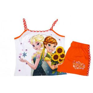 Μπλούζα & Σόρτσ (Μακώ) Frozen Disney (Πορτοκαλί) (Κωδ.200.60.006)