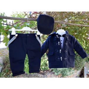 Ολοκληρωμένο σετ βάπτισηs αγόρι Piccolino Bernard Blue AG19F17-140 Με βαλίτσα rain η θρανίο παγκάκι!!!!