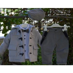 Ολοκληρωμένο σετ βάπτισηs αγόρι Piccolino Bernard Grey AG19F17-140 Με βαλίτσα rain η θρανίο παγκάκι!!!!