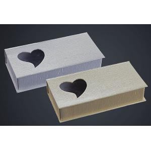 Μπομπονιέρες Γάμου Βάπτισης Κουτί Καρδιά HNV7733 Nuova Vita Διαστάσεις 16.5Χ10Χ4cm