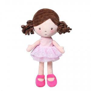 BabyOno Παιχνίδι Αγκαλιάς Κούκλα Λένα Ροζ (BN1237)