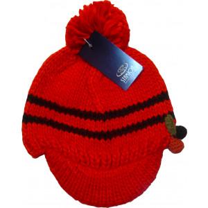 Σκουφί Πλεκτό με Γείσο (Κόκκινο) (Κωδ.200.512.072)