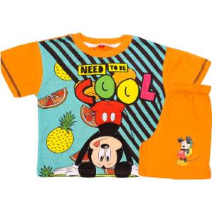 Σετ Παιδικό K/Μ Μακώ Mickey Disney (Πορτοκαλί) (Κωδ.200.43.010)
