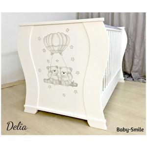 Κρεβάτι Baby Smile Delia Με Ζωγραφιά (Ρωτήστε για την προσφορά) (00289)