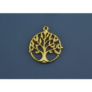 Διακοσμητικό Δέντρο Ζωής Μεταλλικό  NU1702 Χρυσό και Ασημί Nuova Vita