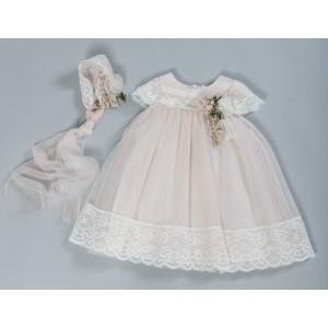 Ολοκληρωμένο πακέτο βάπτισηs με αυτό το Φόρεμα (Vanessa Cardui Κωδ.8029-100-210)