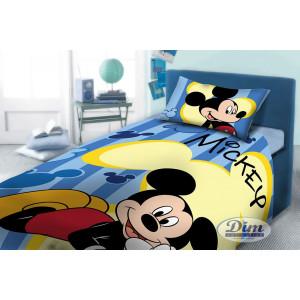Σετ Σεντόνι + Μαξιλαροθήκη 3 τεμαχίων Mickey (#621.336.008#)