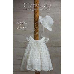 Ολοκληρωμένο πακέτο βάπτισηs με αυτό το φόρεμα (Piccolino LYDIA #DR19S04-125#iVORY) Με βαλίτσα rain η παγκάκι θρανίο