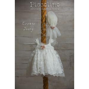 Ολοκληρωμένο πακέτο βάπτισηs με αυτό το φόρεμα (Piccolino LEONIE #DR19S19-125#iVORY) Με βαλίτσα rain η παγκάκι θρανίο