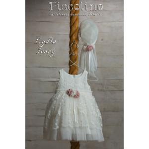 Ολοκληρωμένο πακέτο βάπτισηs με αυτό το φόρεμα (Piccolino ALICE #DR19S25-125#iVORY) Με βαλίτσα rain η παγκάκι θρανίο