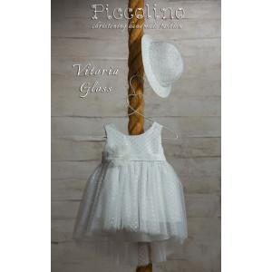 Ολοκληρωμένο πακέτο βάπτισηs με αυτό το φόρεμα (Piccolino VITTORIA #DR19S26-125#iVORY) Με βαλίτσα rain η παγκάκι θρανίο