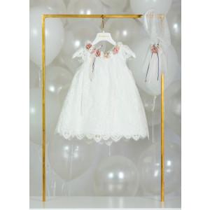 Ολοκληρωμένο σετ βάπτισης κορίτσι Piccolino RENATA DR20S22 PUCE narlis.gr