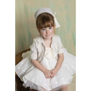 Ολοκληρωμένο πακέτο βάπτισηs με αυτό το φόρεμα Bambolino Drosia (#8768-150-310#) Με βαλίτσα rain η παγκάκι θρανίο Ζητήστε προσφορά !!