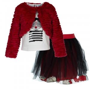 Σετ κορίτσι γιλέκο μπλούζα φούστα μπεμπέ 291.033.011. Εβίτα 199202