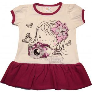 Φόρεμα Κ/Μ Παιδικό (Μελιτζανί) (Κωδ.582.130.014)
