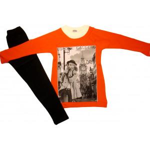 Μπλουζοφόρεμα & Κολάν (Πορτοκαλί) (Κωδ.291.39.052)