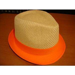 Καπέλο Ψάθινο με Πορτοκαλί Ρίγα (Πορτοκαλί) (Κωδ.007.511.001)
