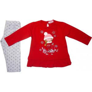Μπλουζοφόρεμα & Κολάν (Κόκκινο) (Κωδ.291.130.320)