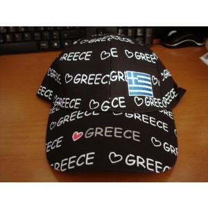 Καπέλο Jockey Greece (Μαύρο) (Κωδ.017.126.001)
