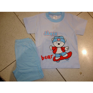 Πυζάμα Κ/Μ Skate Bear (Σιελ) (Κωδ.019.69.016)