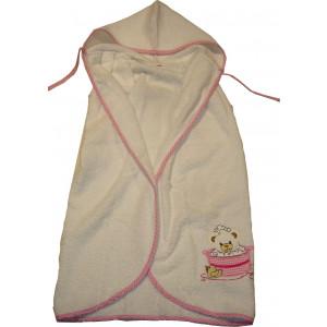 Μπουρνούζι Κάπα Βρεφικό (0+) (Άσπρο - Ροζ) (Κωδ.582.144.007)