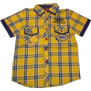 Πουκάμισο KΜ Καρώ (Κίτρινο) (Κωδ.618.32.007)