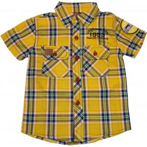 Πουκάμισο KΜ Καρώ (Κίτρινο) (Κωδ.618.32.005)