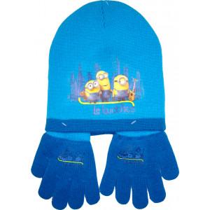 Σκούφος & Γάντια Minions Disney (Τυρκουάζ) (Κωδ.200.503.002)