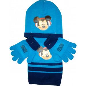 Σκουφάκι & Κασκόλ & Γάντια Mickey Disney (Μπλε) (Κωδ.200.503.008)