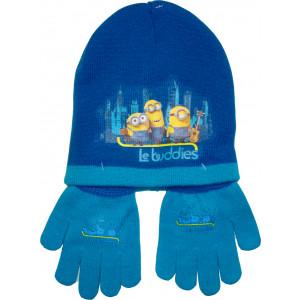 Σκούφος & Γάντια Minions Disney (Μπλε Ρουά) (Κωδ.200.503.002)