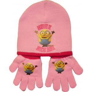 Σκούφος & Γάντια Minions Disney (Ροζ) (Κωδ.161.503.218)