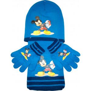 Σκουφάκι & Κασκόλ & Γάντια Mickey Disney (Μπλε Ρουά) (Κωδ.200.503.009)