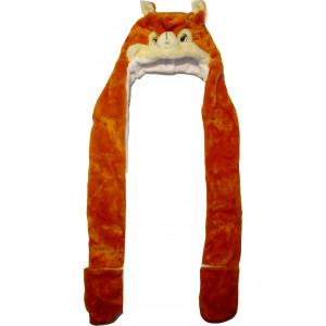 Σκούφος Ζωάκι Σκίουρος (με γάντια) (Κωδ.580.512.019)