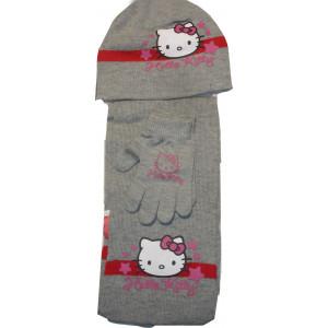 Σκουφάκι & Κασκόλ & Γάντια H.Kitty Disney (Γκρι Σκούρο) (Κωδ.115.503.005)