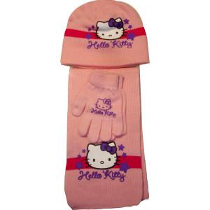 Σκουφάκι & Κασκόλ & Γάντια H.Kitty Disney (Ροζ) (Κωδ.115.503.005)