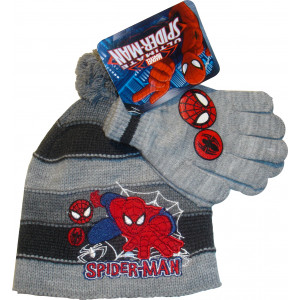 Σκουφάκι & Γάντια Spiderman Marvel (Γκρι Ανοιχτό) (Κωδ.115.503.006)