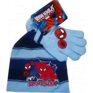 Σκουφάκι & Γάντια Spiderman Marvel (Σιελ) (Κωδ.115.503.006)