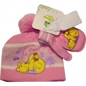 Σκουφάκι & Γάντια Winnie Disney (Ροζ) (Κωδ.115.503.004)