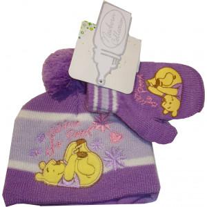 Σκουφάκι & Γάντια Winnie Disney (Μωβ) (Κωδ.115.503.004)