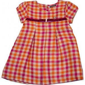 Φόρεμα κοντομάνικο Καρώ Εβίτα 16162  Κωδ. 291.86.199