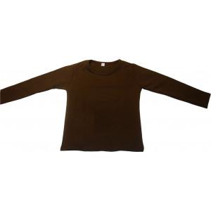 Μπλούζα Μονόχρωμη Φούτερ Λύκρα (Ισοθερμικό) (Καφέ) (Κωδ.583.532.002) (Για Παραγγελία Άνω των 10 τεμ η τιμή είναι 6€)