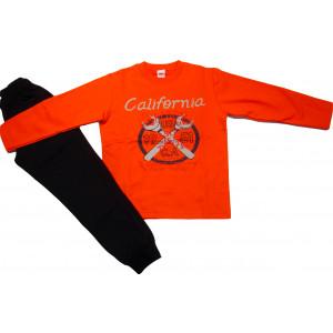 Φόρμα Φούτερ (Πορτοκαλί) (Κωδ.077.40.275)