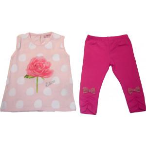 Μπλουζοφόρεμα & Κολάν (Ροζ) (Κωδ.291.87.603)
